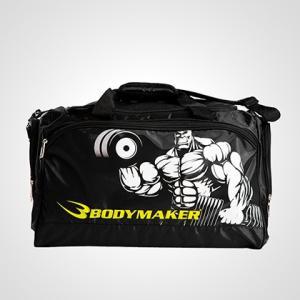 ジムユースバッグ ムキムキマン BODYMAKER ボディメーカー ムキムキマン トートバッグ ランニング スポーツバッグ 折りたたみ|bodymaker