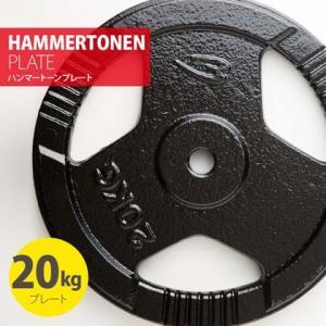 ハンマートーンプレート20kg BODYMAKER ボディメーカー 筋トレ 筋肉 ダンベル ベンチプレス 大胸筋 エクササイズ プレート バーベル ウ|bodymaker