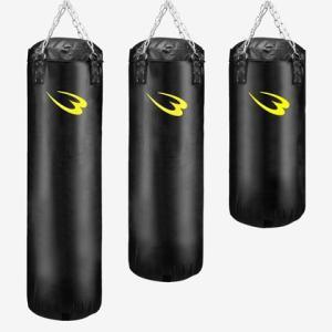 サンドバッグG 100cm ブラック×イエロー BODYMAKER ボディメーカー 筋トレ ボクシング ストレス解消 格闘技 グローブ 空手 ジム 自|bodymaker