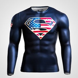BM・GEAR SUPERMAN STARS & STRIPES ロングスリーブ / BODYMAKER ボディメーカー ジャストフィット bodymaker