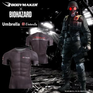BIOHAZARD Umbrella BM・GEAR ハーフスリーブ2 BODYMAKER ボディメーカー ゲーム バイオハザード ゴルフ コスプレ|bodymaker