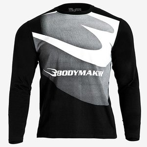 Bロゴグラデーションプリント ロングスリーブTシャツ / BODYMAKER ボディメーカー ロングスリーブ Tシャツ スポーツ|bodymaker
