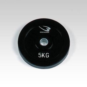 ダンベル専用ラバープレートNR5kg(グリップ無) PDNR500 BODYMAKER ボディメーカー ダンベル プレート 重り 筋トレ 筋力 筋 bodymaker