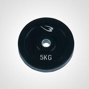 ダンベル専用ラバープレート(グリップ無) 5.0KG BODYMAKER ボディメーカー ダンベル プレート 重り 筋トレ 筋力 bodymaker