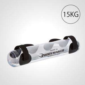 ウォーターバッグ 15.0kg クリア BODYMAKER ボディメーカー ジム ドラム 体幹 ウエイト コア 空手 サンドバッグ ストレス解消 トレ|bodymaker