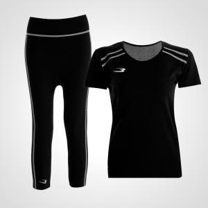 BM・FIX WOMEN ハーフスリーブレギンスセットアップ / スポーツ 女性 可愛い テニス|bodymaker