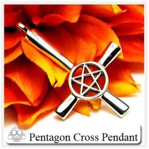早い者勝ち  ペンダント トップのみ ペンタグン スター クロス 十字架 シルバーアクセサリー  |bodywell