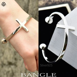 バングル ロング クロス 十字架 シルバー925 メンズ レディース シルバーバングル|bodywell
