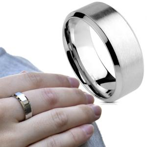 シンプル つや消し Brushed 選べるリング幅 ステンレス リング 指輪 メンズ レディース ユニセックス ステンレスアクセサリー ノンアレルギー|bodywell