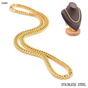 50cm ゴージャス ゴールド チェーンネックレス ステンレス メンズアクセ ペンダントネックレス|bodywell