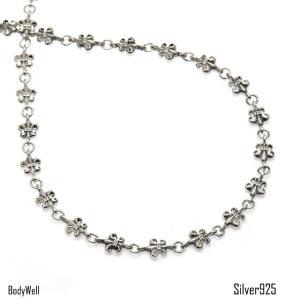 百合の紋章 シルバーチェーン シルバー925 シルバーアクセサリー ネックレス チェーン ボディピアス【BodyWell】|bodywell