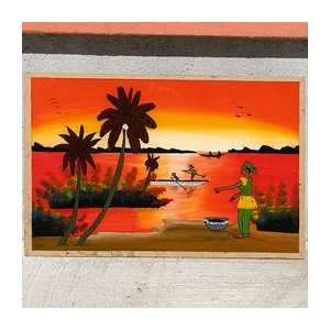 西アフリカ セネガル ガラス絵 No.8|bogolanmarket