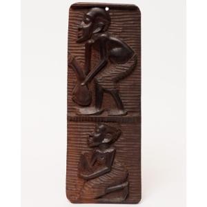 アフリカ タンザニア 黒檀彫刻 木彫り マコンデ 壁飾り No.2|bogolanmarket