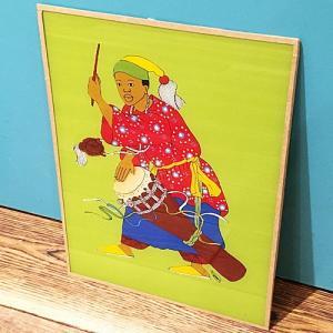 西アフリカ セネガル ガラス絵 No.12 アフリカンアート 絵画 壁飾り|bogolanmarket