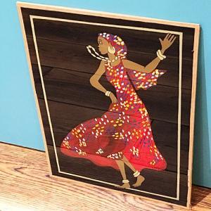 西アフリカ セネガル ガラス絵 No.7 アフリカンアート 絵画 壁飾り|bogolanmarket