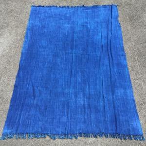 アフリカ マリ共和国 藍染めクロス(L) 古布 膝掛け テーブルクロス|bogolanmarket