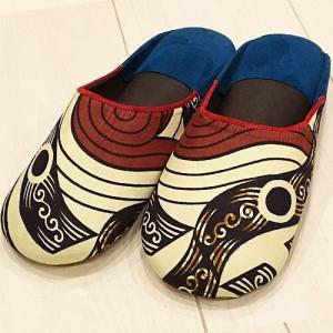 アフリカ モロッコ パーニュ バブーシュ サイズ39(24〜25cm) No.12  スリッパ サンダル 室内履き ルームシューズ|bogolanmarket