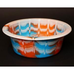 アフリカ セネガル プラスチック洗面器 No.1 カラフル マーブル 桶 バケツ|bogolanmarket