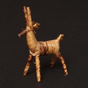 アフリカ ケニア バナナファイバー アニマル 動物 ガゼル (Sサイズ) 置き物|bogolanmarket