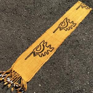 アフリカ マリ共和国 ボゴラン 1列帯 No.10 泥染め コットン 織布 飾り布 タペストリー bogolanmarket