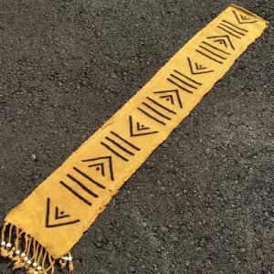 アフリカ マリ共和国 ボゴラン 1列帯 No.14 泥染め コットン 織布 飾り布 タペストリー bogolanmarket
