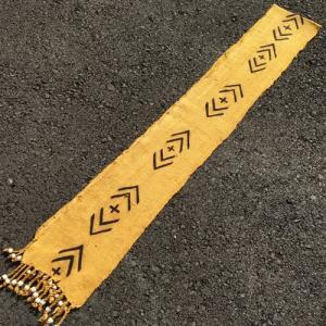 アフリカ マリ共和国 ボゴラン 1列帯 No.16 泥染め コットン 織布 飾り布 タペストリー bogolanmarket