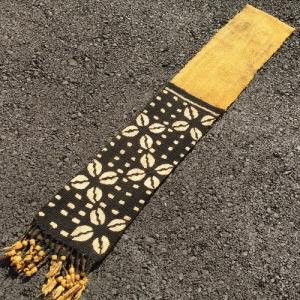 アフリカ マリ共和国 ボゴラン 1列帯 No.18 泥染め コットン 織布 飾り布 タペストリー bogolanmarket