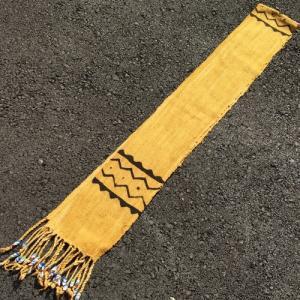 アフリカ マリ共和国 ボゴラン 1列帯 No.19 泥染め コットン 織布 飾り布 タペストリー bogolanmarket