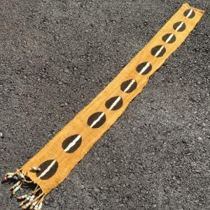 アフリカ マリ共和国 ボゴラン 1列帯 No.20 泥染め コットン 織布 飾り布 タペストリー bogolanmarket