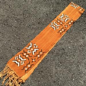 アフリカ マリ共和国 ボゴラン 1列帯 No.30 泥染め コットン 織布 飾り布 タペストリー bogolanmarket
