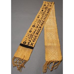 アフリカ マリ共和国 ボゴラン 1列帯 No.4 泥染め コットン 織布 飾り布 タペストリー bogolanmarket