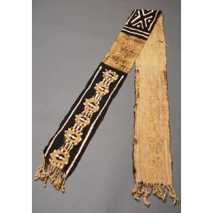 アフリカ マリ共和国 ボゴラン 1列帯 No.5 泥染め コットン 織布 飾り布 タペストリー bogolanmarket