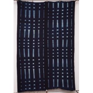 アフリカ ブルキナファソ 藍染め布 No.1 藍染絞り 絞り染め 飾り布|bogolanmarket