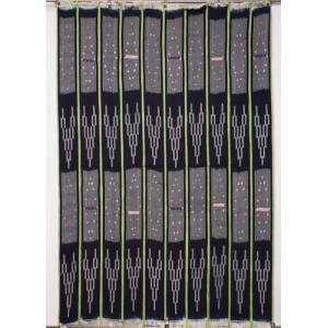 アフリカ ブルキナファソ 手織り 藍染め腰巻き布 クロス No.1 タペストリー 飾り布|bogolanmarket