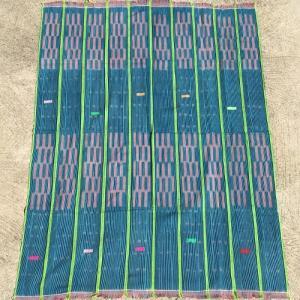 アフリカ ブルキナファソ 手織り 藍染め腰巻き布 クロス No.2 タペストリー 飾り布|bogolanmarket
