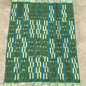 アフリカ ブルキナファソ 手織り 藍染め腰巻き布 クロス No.3 タペストリー 飾り布|bogolanmarket