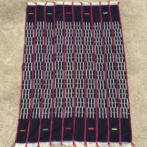 アフリカ ブルキナファソ 手織り 藍染め腰巻き布 クロス No.4 タペストリー 飾り布|bogolanmarket
