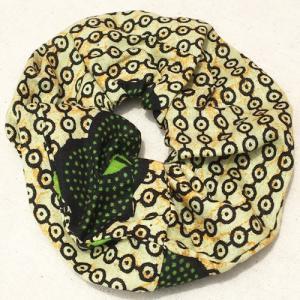 アフリカンワックスプリント シュシュ No.22 パーニュ アフリカ布 ヘアゴム ヘアアクセサリー |bogolanmarket