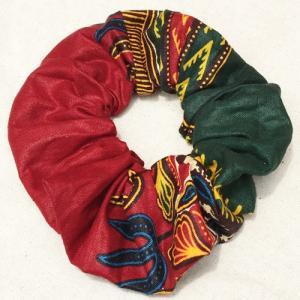 アフリカンワックスプリント シュシュ No.8 パーニュ アフリカ布 ヘアゴム ヘアアクセサリー |bogolanmarket