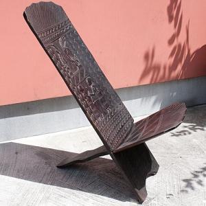 アフリカ マリ共和国 ドゴン 二枚板合わせ椅子 スツール ベンチ バンバラ 家具 民具|bogolanmarket