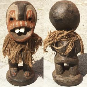 アフリカ ケニア カンバ 出っ歯人形 No,6 置物 オブジェ アート プリミティブ  木彫り|bogolanmarket