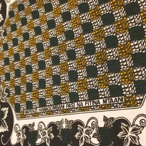 アフリカ ケニア モンバサ カンガ No.68 アフリカンワックス アフリカ布|bogolanmarket
