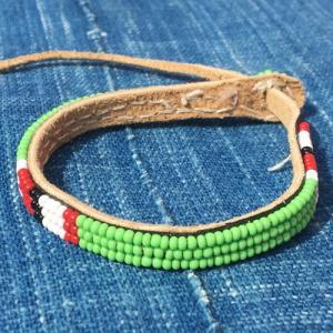 アフリカ ケニア マサイビーズ ロングブレスレット No.3 マサイ族|bogolanmarket