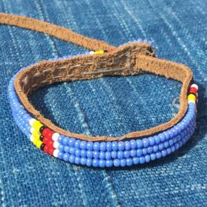 アフリカ ケニア マサイビーズ ロングブレスレット No.4 マサイ族|bogolanmarket
