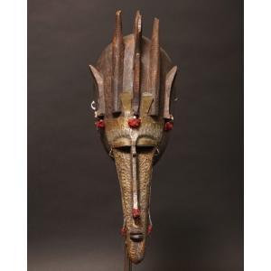 アフリカ マリ マルカ マスク(仮面) No,64 プリミティブアート 木彫り アフリカンアート 彫刻 bogolanmarket