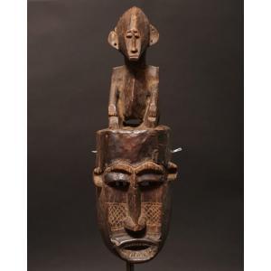 アフリカ コートジボワール セヌフォ マスク(仮面)  No.37 プリミティブアート 木彫り アフリカンアート 彫刻 bogolanmarket