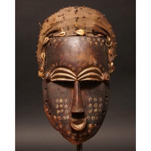 西アフリカ マスク(仮面) No,60 プリミティブアート 木彫り アフリカンアート 彫刻 bogolanmarket