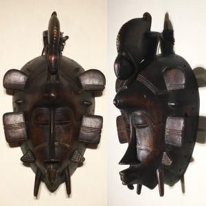 アフリカ コートジボワール セヌフォ マスク(仮面) No,67 プリミティブアート 木彫り アフリカンアート 彫刻 セヌフォ族 bogolanmarket