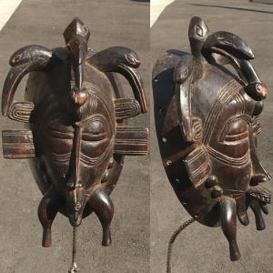 アフリカ コートジボワール セヌフォ マスク(仮面) No,68 プリミティブアート 木彫り アフリカンアート 彫刻 セヌフォ族 bogolanmarket