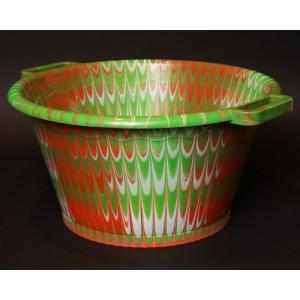 アフリカ セネガル プラスチック桶 (XL) No.2 カラフル マーブル バケツ|bogolanmarket